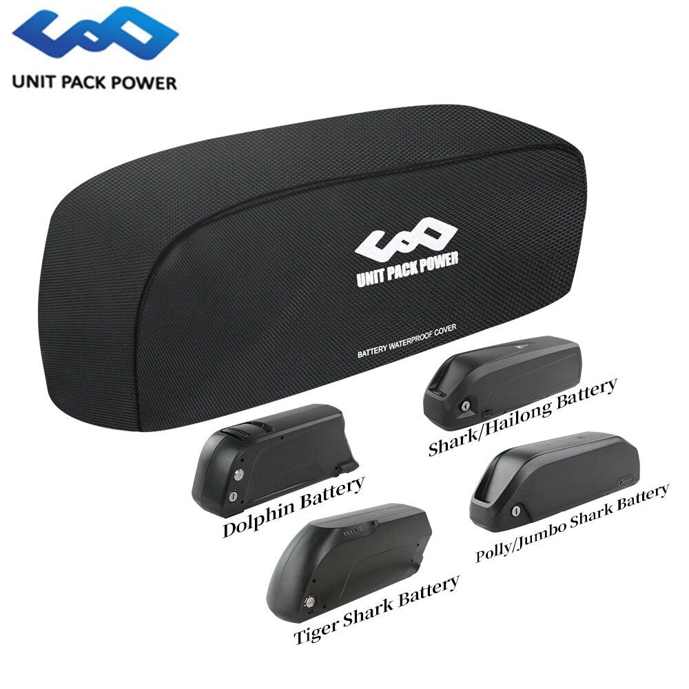 Capa de bateria ebike hailong/jumbo/tigershark/dolphin/polly estilo impermeável dustproof mut-anti saco para proteção de baterias