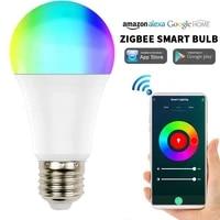 Tuya     ampoule LED coloree E27  Option RGB  lampe intelligente  application Smart Life  commande vocale  fonctionne avec Alexa Google Home