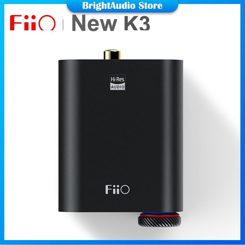 FiiO New K3 ES9038Q2M USB-C DAC Portable Headphone Amplifier Desktop AMP Support Coaxial Optical Digital Outs PCM384k/DSD256
