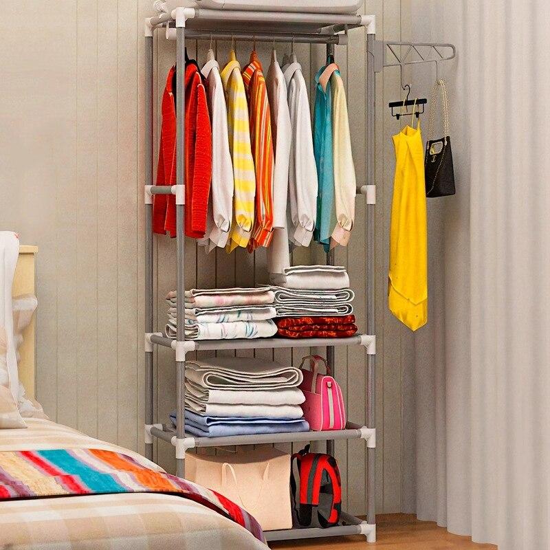 بسيط معدن الحديد معطف الرف الطابق الدائمة الملابس معلقة تخزين الرف شماعات ملابس رفوف أثاث غرفة نوم