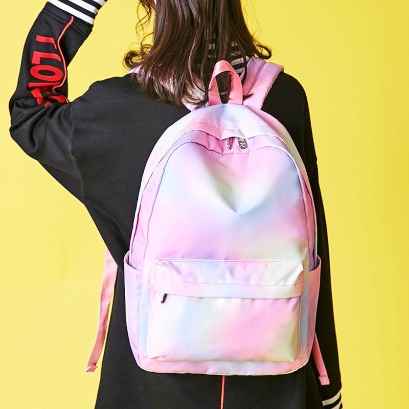 Mochila mediana, mochila, GINIANI, dulce estilo Rock, para chicas, con remaches sólidos, corazón, de alta calidad