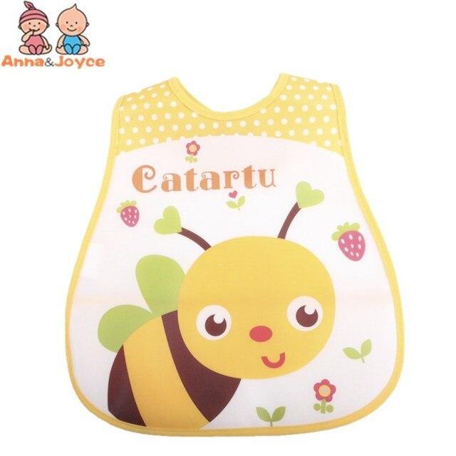 4pc/Lot Baby Bibs Waterproof Cartoon Children Burp Cloths Kids Towel Accessories 2