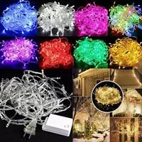 10m 100 waterproof led string lights 8 mode christmas led string fairy light for party wedding garland decor us110v eu220v plug
