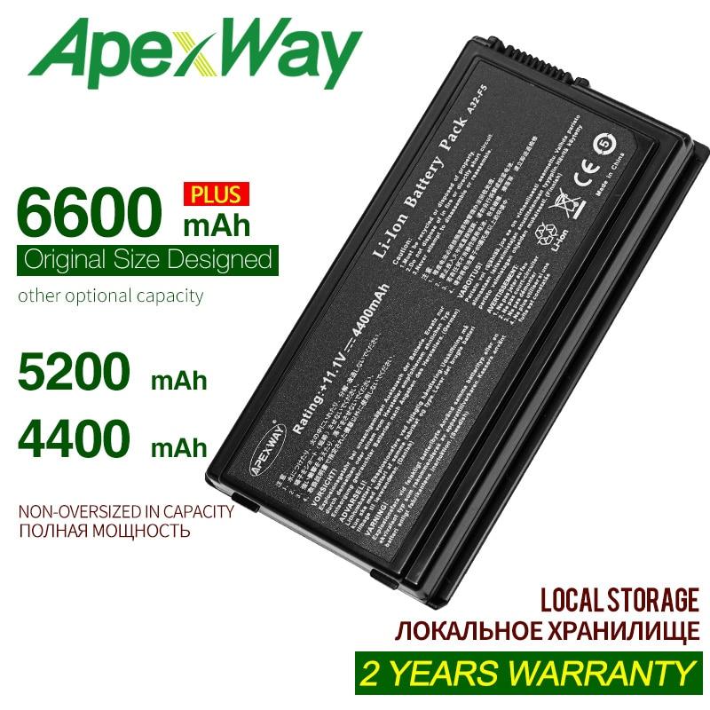 ApexWay 4400mah 11,1 V 6 celdas batería de portátil para Asus A32-F5...