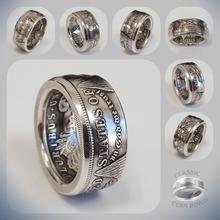 Vintage Morgan moneda un dólar 1921 banda anillo moda hombres mujeres aniversario Souvenir joyería regalo