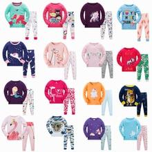 Mädchen Hause Nachtwäsche Baby Kinder Baumwolle Pyjamas Set Kinder Cartoon Langarm Pyjamas Kleidung Sets Jungen Casual Pijamas Set