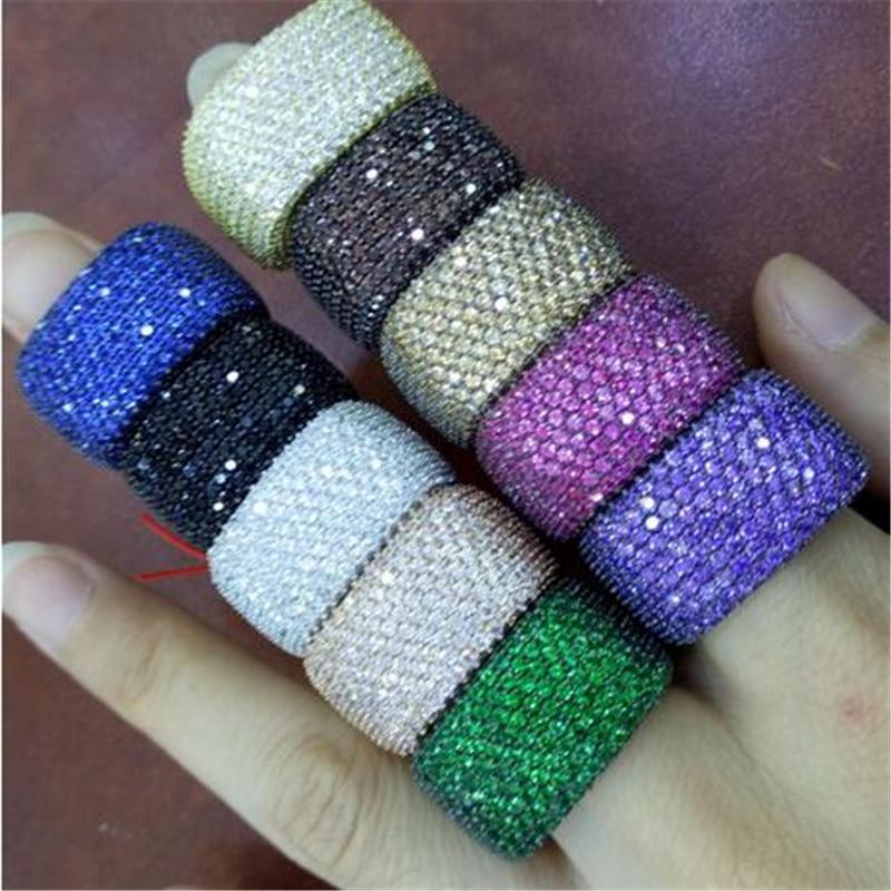 خاتم من الفضة الإسترليني عيار 400 مرصع بالألماس ، خاتم خطوبة فاخر مرصع بالألماس ، 925 قطعة ، للنساء
