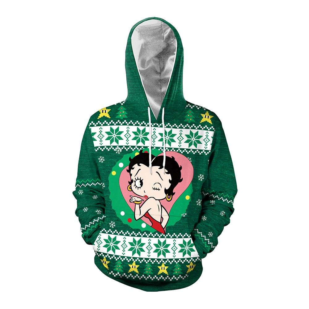 Fall 2021 New Womens Tops Couples Wear Christmas Animation Anime Print Crewneck Sweater Letter Printing Hoodies Sweatshirt Women