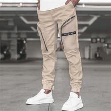 Cargo Pants Men 2021 Hip Hop Streetwear Jogger Pant Zipper pocket Trousers Gyms Fitness Casual Jogge