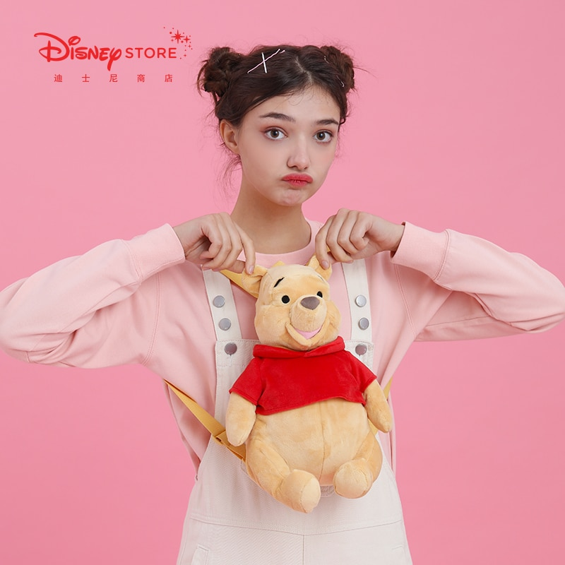 Disney Official Cartoon Cute Pooh Plush Doll Backpack Backpack Early Spring New Product School Bags