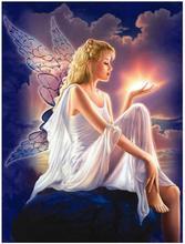 Mosaico de diamante borboleta anjo diamante arte pintura strass desenho beleza imagem parede pendurar decoração adesivos bordado ponto