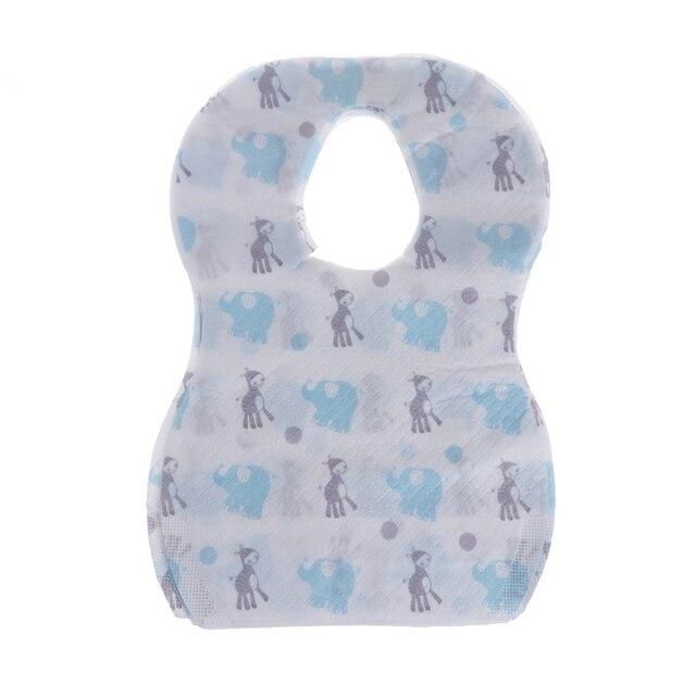 10/20pcs/lot Sterile Disposable Bib Children Baby waterproof Eat Bibs With Pocket Baby kid scarf bib saliva towel bib Convenient 2