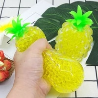 funny pop trend sensory toys spongy bead decompression pineapple fidget toys squishy ball pressure stress reliever toys gifts