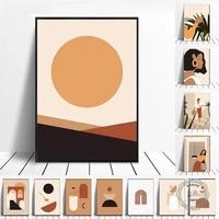 Toile dart geometrique minimaliste  mode pour fille  affiches et imprimes nordiques pour decoration interieure moderne