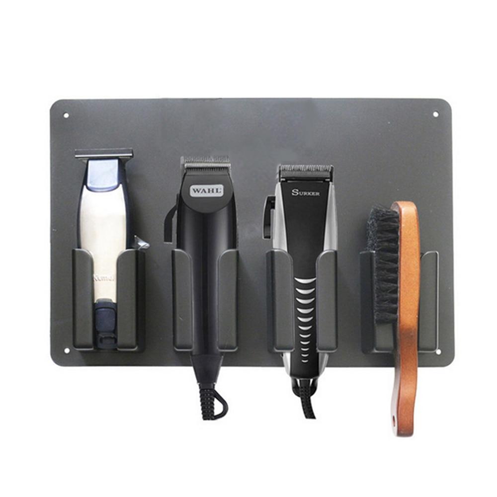 Caixa de armazenamento de ferramentas de barbeiro plástico 4-slot profissional de alta temperatura suporte de clipper de cabelo rack de armazenamento salão de beleza barbeiro ferramentas titular