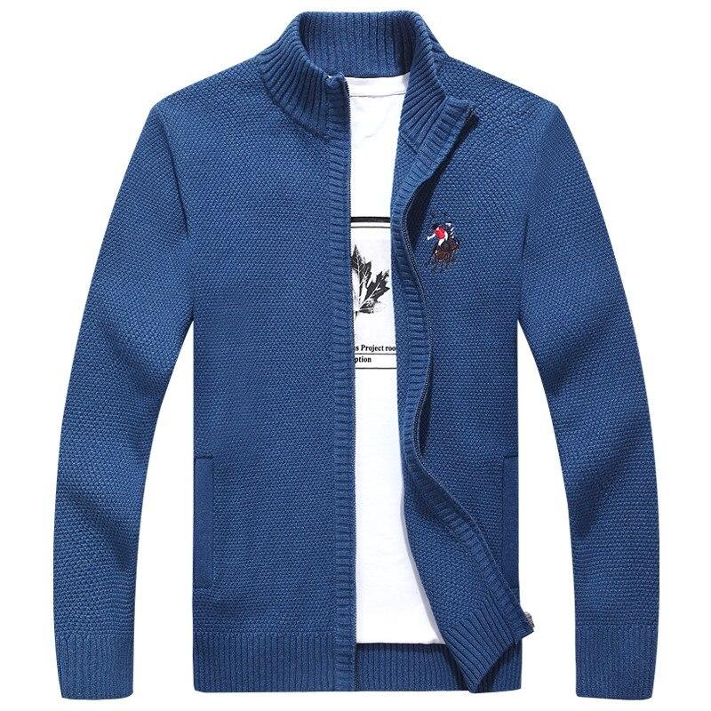 Suéteres para hombre para Otoño Invierno 2020, suéter bordado 3D de Color sólido cálido, cárdigan con cremallera a la moda para hombres, abrigo para hombres