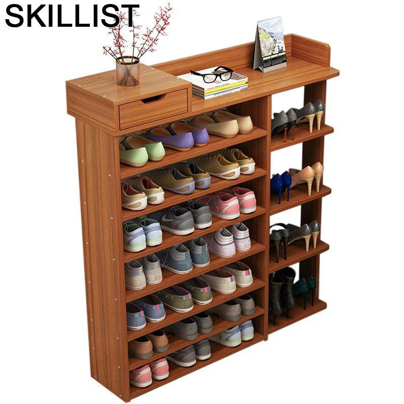 Na gama buty zapatero mueble para el hogar zapatera organizador rack móveis de gabinete meuble chaussure scarpiera sapatos armazenamento