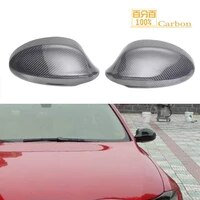 replacement carbon fiber car side mirror cover for old 3 series e90 2005 2008 rear view mirror caps
