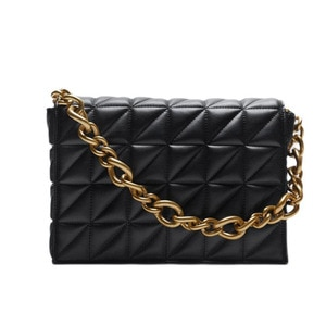 Soft Gold Metal Chain Pu Leather Armpit Retro Shoulder Small Square Bag Top Quality Luxury Brand Crossbody Bag for Woman 2021