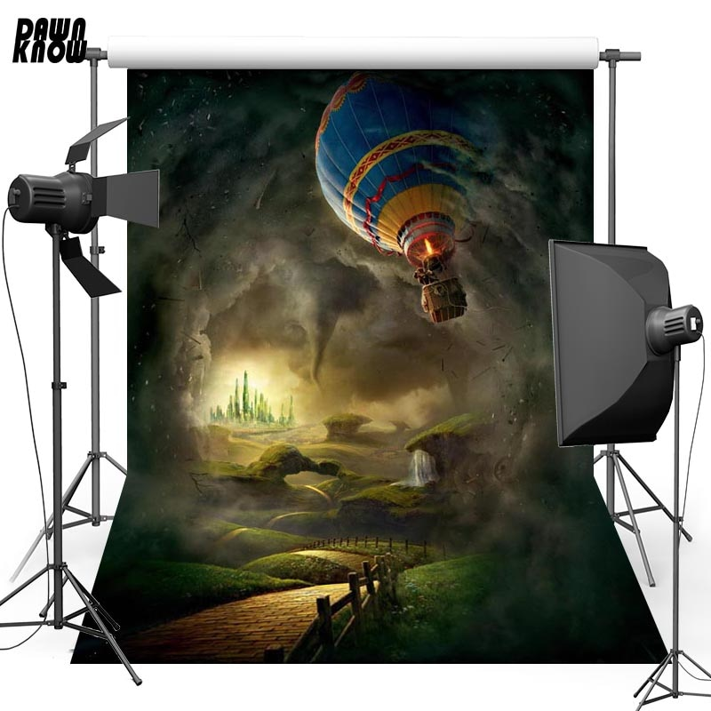 DAWNKNOW File Balloon Vinyl Photography Background For Baby Darkness New Fabric Polyester Backdrop For Wedding Photo Studio G629