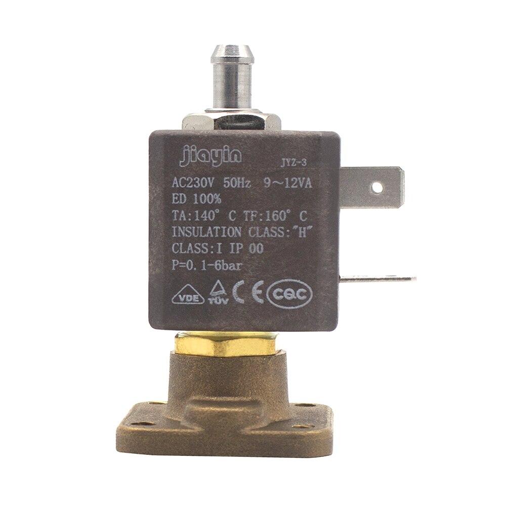 Jiayin, JYZ-3Z AC230V, cánula de 2/3 vías, brida plana, 6bar, 1,5mm, válvula magnética conductora, válvula solenoide de vapor de Gas y agua