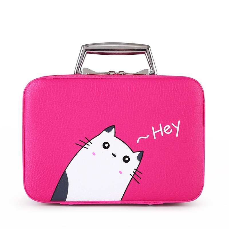 Large Capacity Cosmetic Bag Portable Cosmetic Case Travel Storage Portable Makeup Bags Brush Holder Organizer Toiletry Bag 2021