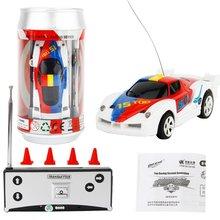 Mini jouet créatif voiture Coke peut voiture de course haute vitesse voiture RC intégré batterie Rechargeable télécommande voiture jouet cadeau pour les enfants