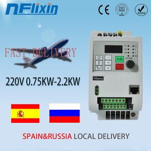 Fast shipping in China!!Mini 0.75kw-2.2kw VFD Inverter frequency Converter input 220v single & output 3phase 220v Feee-Shipping