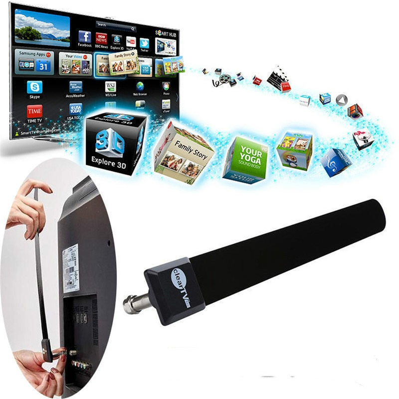 1080p gran venta TV Stick Clear Smart TV interruptor antena HDTV TV gratis TV Digital interior antena zanja Cable TV