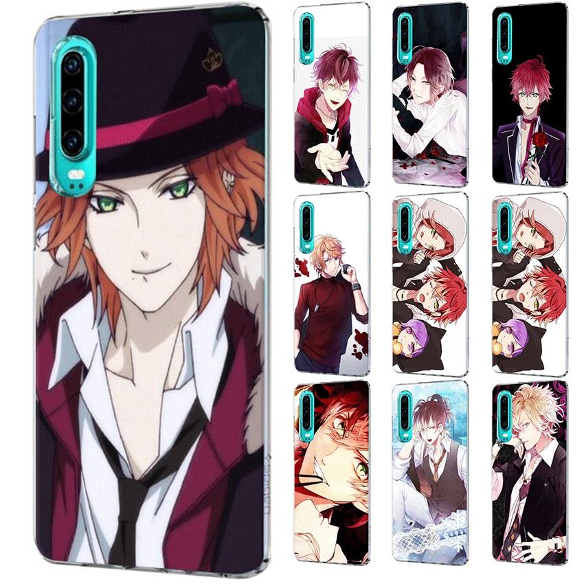 Capa de celular huawei p smart z plus, huawei p30 p20 p10 p9 p8 lite pro capa de anime diabik os amantes