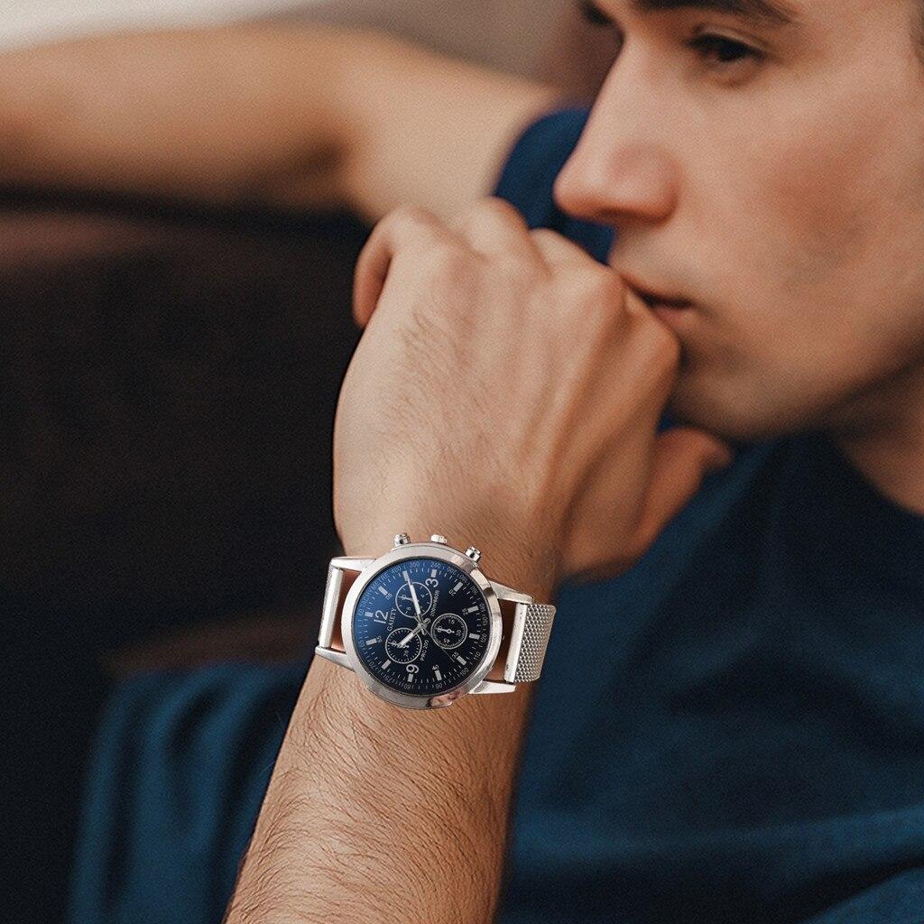 Reloj de pulsera de cuarzo de lujo para hombre GAIETY y reloj de pantalla multidial de moda de negocios con correa de silicona analógica L0829