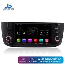 Autoradio JDASTON Android 10.0 1 Din pour Fiat Abarth Punto EVO Linea 2012-2014 lecteur multimédia de voiture GPS Navigation stéréo Wifi