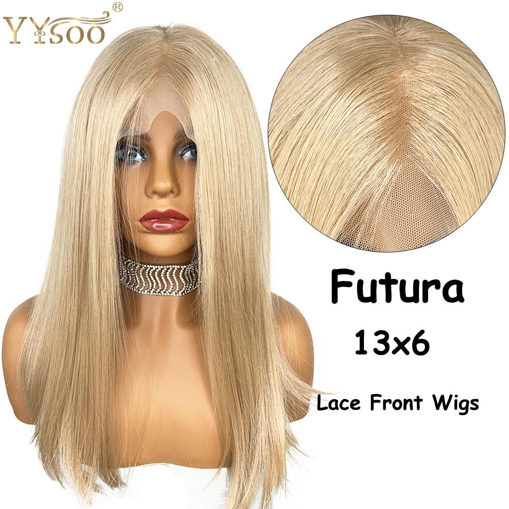 YYsoo soie droite 13X6 court Bob dentelle avant perruque dentelle frontale Futura japon résistant à la chaleur cheveux Fiber de remplacement perruque