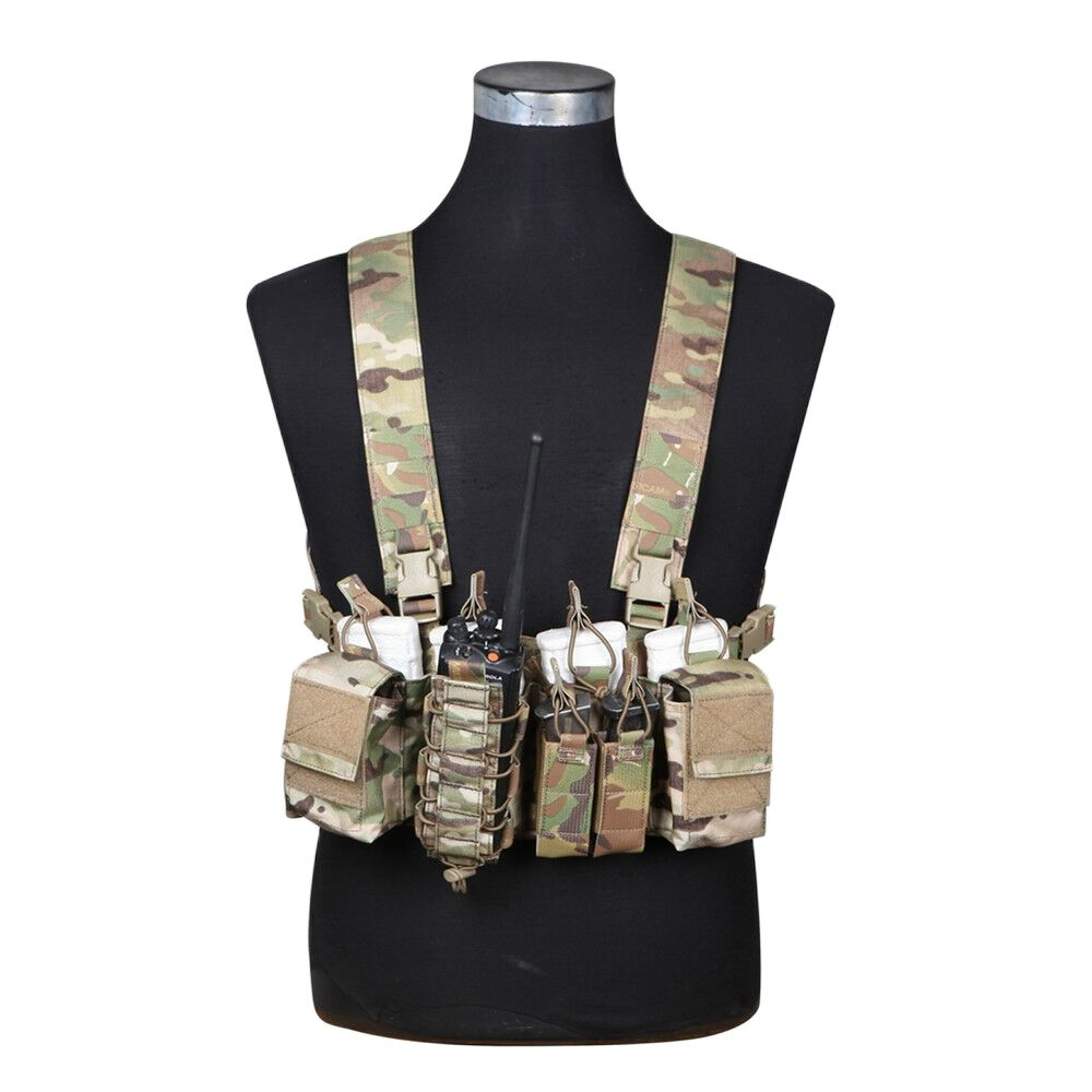 Emersongear Tactical Chest Rig D3CR Rapid Assault Military Armor 5.56 Walkie Pouch Airsoft Hunting Carrier Vest Combat Vest