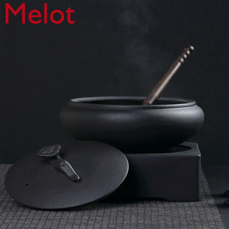 إبريق شاي حجر بركاني ، طبق سيراميك ، إبريق شاي ، موقد سيراميك كهربائي ، طقم أصيص نباتات من السيراميك وموقد شاي
