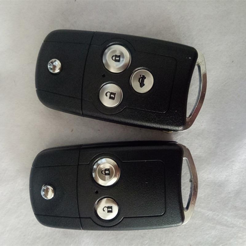 DAKATU 2/3 botón coche mando a distancia traje para Honda Accord Civic CRV ciudad Odyssey Fit 433MHz ID46 Chip con hoja HON66