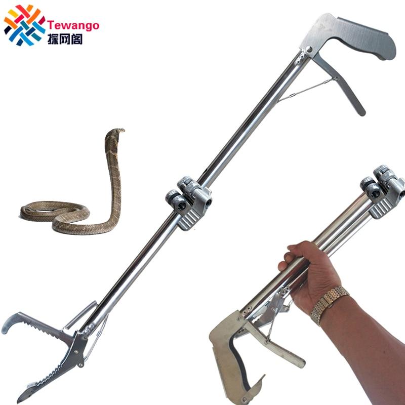 Tewango بالجملة 10 قطعة ثعبان المنتزع الفولاذ المقاوم للصدأ الزواحف الماسك 1 متر طول طوي ملقط عصا