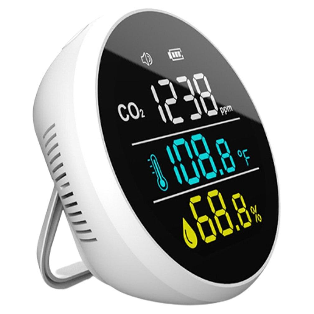 Medidor de Sensor Qualidade do ar Detector Dióxido Carbono Analisador Gás Medidor Umidade Temperatura Pm2.5 Pm10 Co2