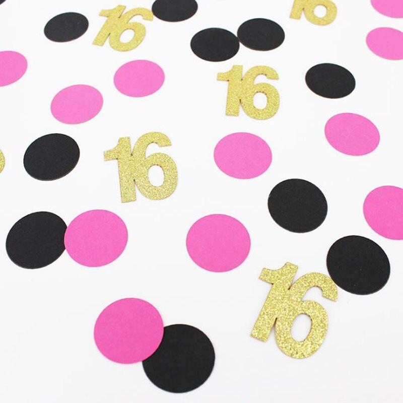 100 unidades/pacote doce 16 21 30 40 50 60 anos de idade número do ponto confettis meninas casamento noivado feliz aniversário decorações da festa