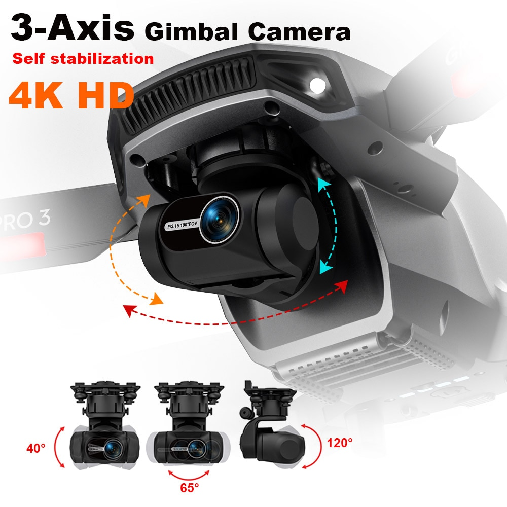 MFM L106 PRO3 3-Axis Gimbal Camera Drone 4K Self Stabilization GPS Professional 1.2Km 5G FPV 25mins Brushless Quadcopter L700pro enlarge