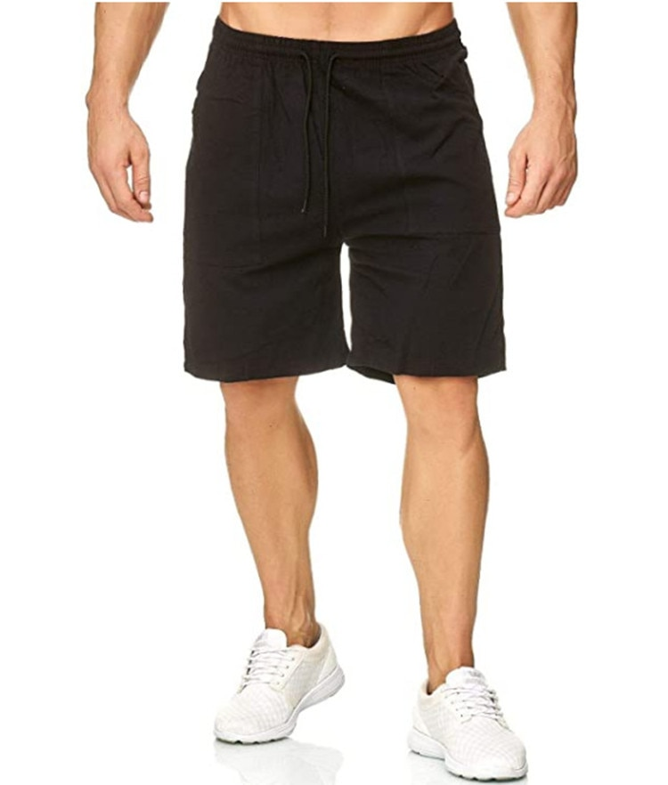 's 2021 summer new men straight running training 5 minutes of pants sports leisure cotton shorts