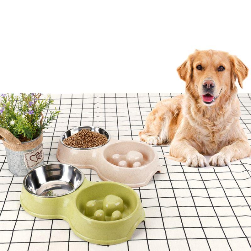 Para Mascotas perro saludable de silicona forma de hueso lento alimentos alimentación dispositivo perro gato mascotas Anti-alimentación facilidad comiendo velocidad viaje de uso de C42
