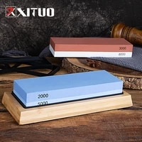 xituo kitchen knife waterstone sharpener butcher chef knife grinding stone grit 30008000 whetstone with non slip bamboo base