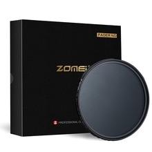 Zomei Ultra mince ABS Fader ND ND2-400 Variable réglable densité neutre filtre pour objectif DSLR 49/52/58/67/72/77/82mm