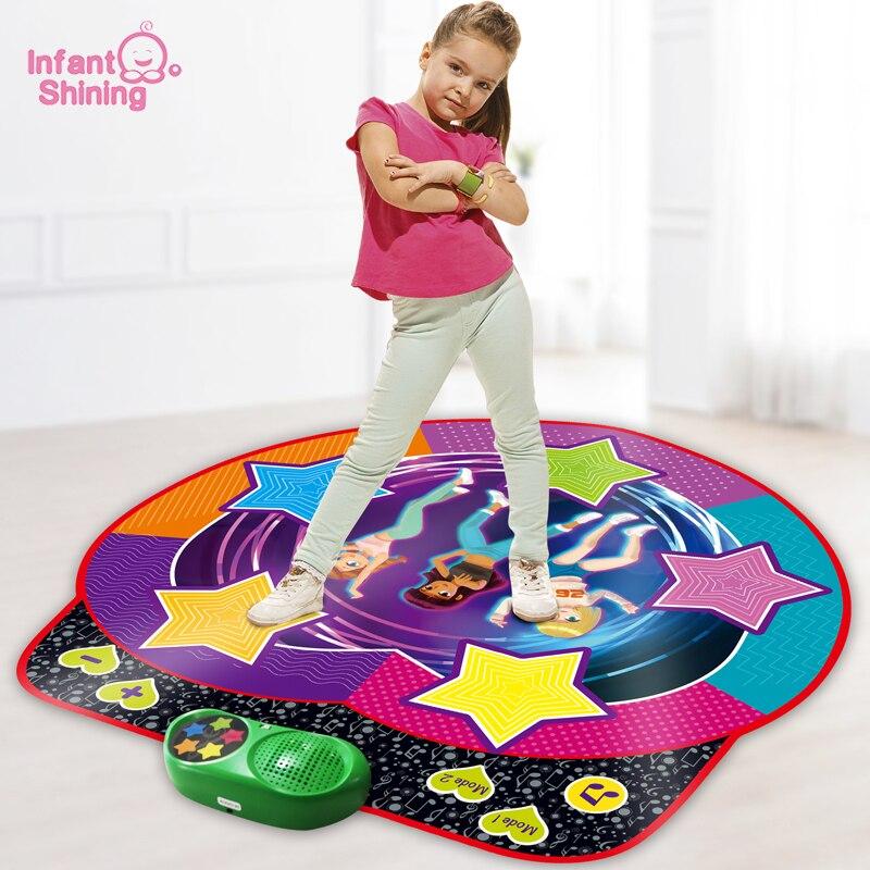 سجادة رقص للأطفال لامعة ، سجادة رياضية ديناميكية ، تعليمية مبكرة ، تفاعلية ، موسيقى منزلية ، هدية للأطفال