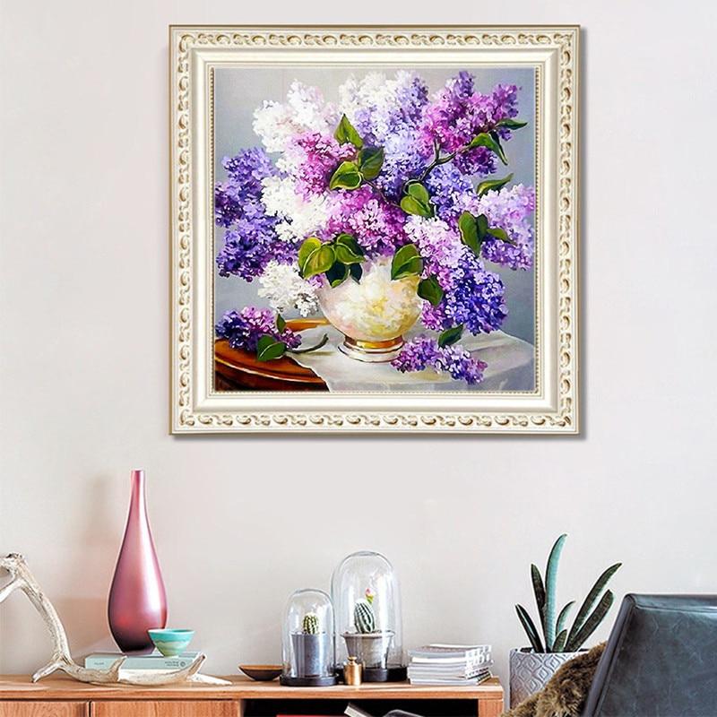 Алмазная картина TN с цветами, круглая Алмазная вышивка Стразы, алмазная вышивка крестиком, алмазная вышивка для дома