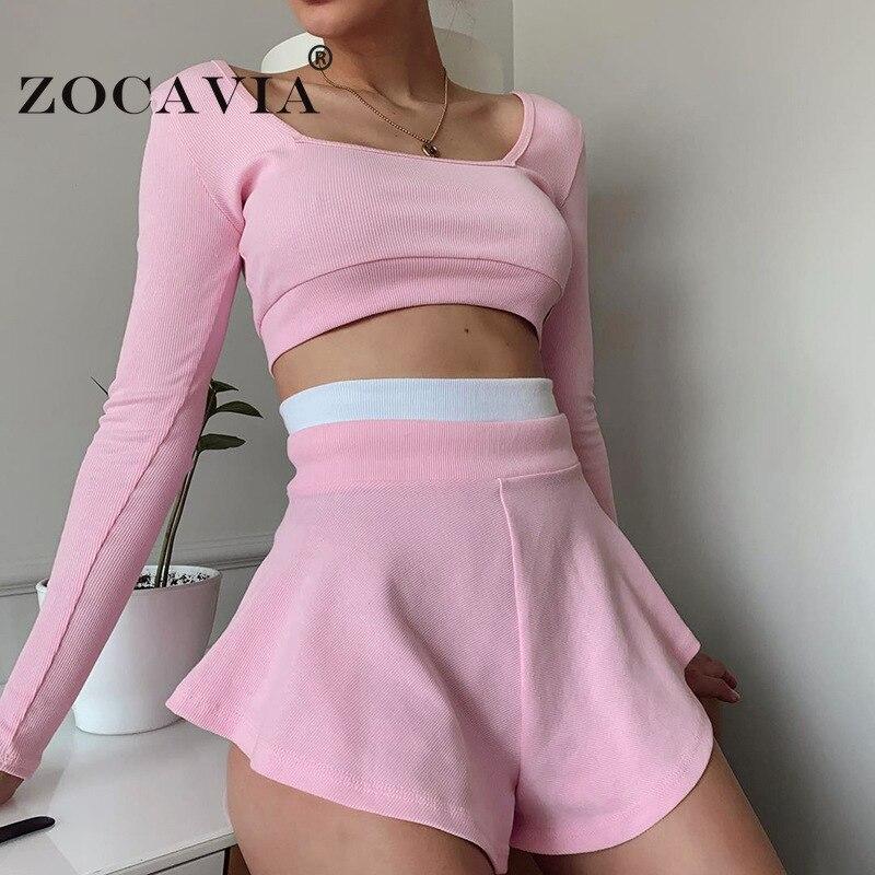 Женский трикотажный костюм с шортами, женская одежда с бесплатной доставкой, спортивная одежда 2021, комплект из двух предметов, брючные кост...