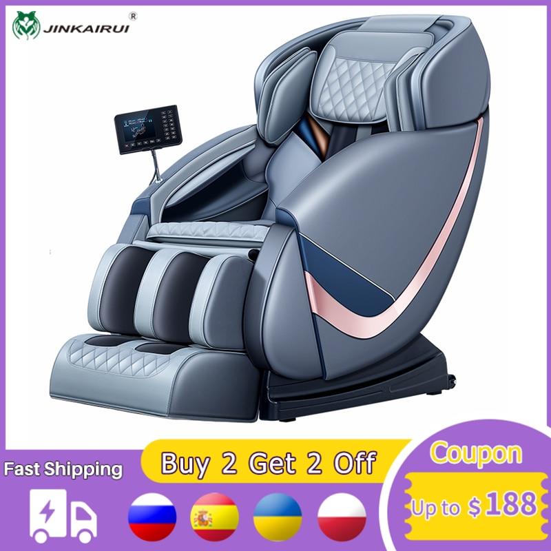 Jinkairui الفاخرة صفر الجاذبية ذكي كامل الجسم كرسي مساج كهربي بلوتوث الموسيقى 149 سنتيمتر SL المسار LCD 4D مناور جديد