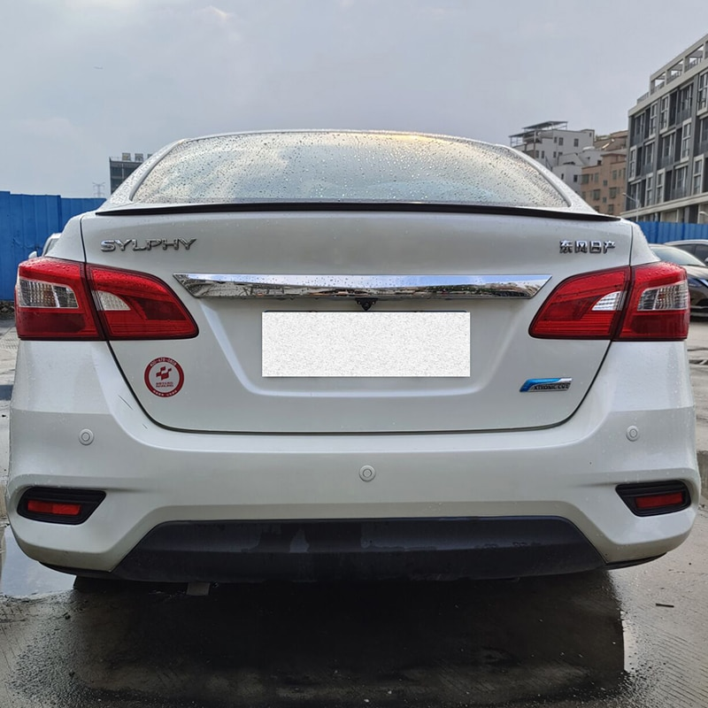 For Spoiler Accessories NEW OLD Nissan Sentra SYLPHY Car Trunk PU Plastic Rear Lip Wing Tail Body Ki