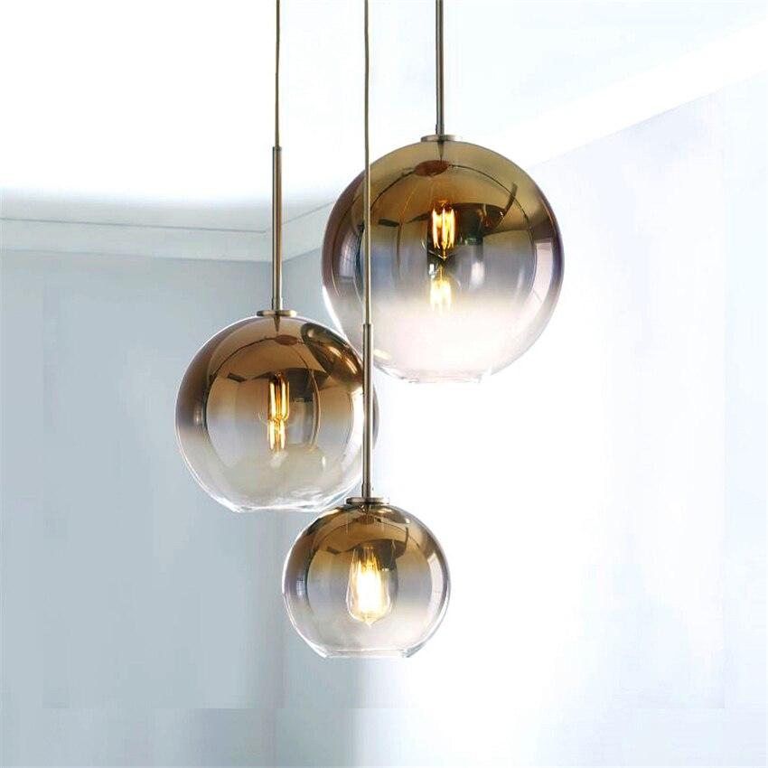 Lámpara colgante nórdica Led dorada, lámpara colgante de cristal, lámpara colgante para sala de estar, lámpara colgante para habitación, accesorio decorativo para el hogar